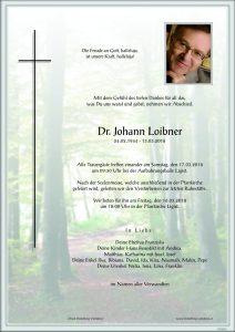 R.I.P. Dr. med. Johann Loibner