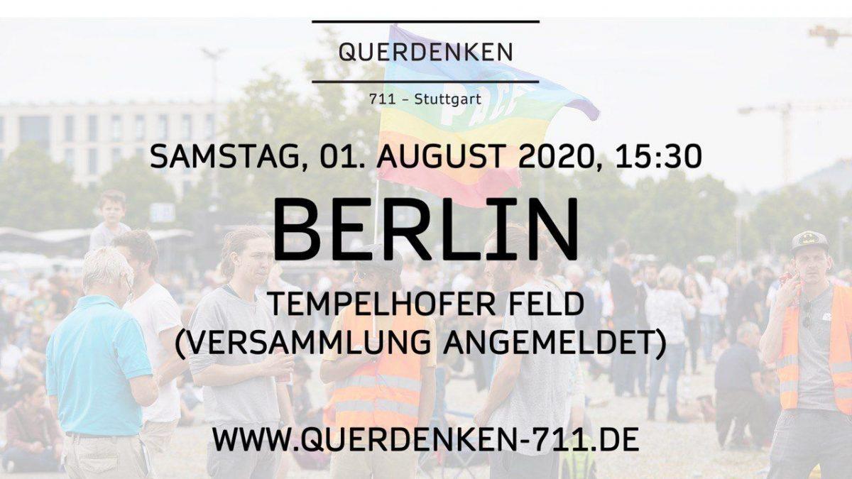 Großdemonstration am 01.08.2020 in Berlin Jetzt vereinen sich alle Bewegungen!